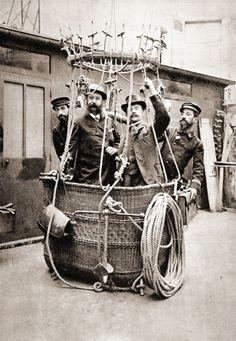 Ballooners, 1895, France.