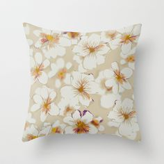 Flora Throw Pillow by Gabriela Fuente - $20.00