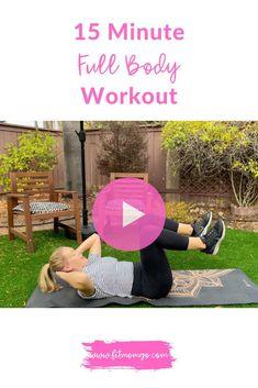 15 Minute Full Body Workout | No Equipment #fullbodyworkout #workoutvideos #workoutsforwomen #quickworkout