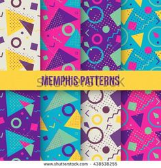 design Have a nice day, guys! Today I bring you a special thing colorful Geometric patterns. Geometric Patterns, Abstract Pattern, Color Patterns, Geometric Shapes, Style Patterns, Vector Pattern, Pattern Design, 90s Pattern, Pattern Texture
