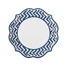 Blue+Chevron+Scalloped+Dinner+Plates+-+OrientalTrading.com  sc 1 st  Pinterest & Plates | 9