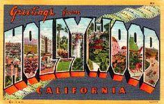 Postcard of Hollywood