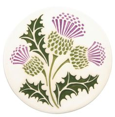 thistle images - Google Search and also the handmade teapot trivet I bought in Edinburgh from a local artist