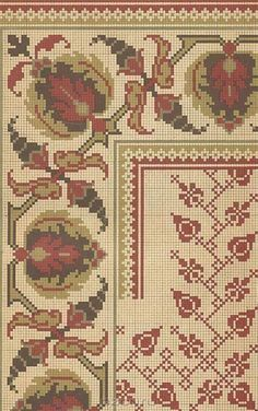 This Pin was discovered by Sen Cross Stitch Borders, Cross Stitch Rose, Cross Stitch Flowers, Cross Stitch Designs, Cross Stitching, Cross Patterns, Counted Cross Stitch Patterns, Cross Stitch Embroidery, Embroidery Patterns