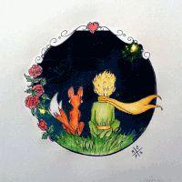 The Little Prince •• [Desenhista de Saturno – Miray Tunali – Redes Sociales Le Petit Prince Film, Prince Drawing, The Little Prince, Art Drawings Sketches, Oeuvre D'art, Van Gogh, Cute Art, Painting & Drawing, Watercolor Art