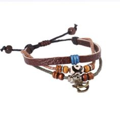 FASHION PLAZA Brass Cockhorse & Simulated Tibetan Buddhist Agate Dzi Bead PU Leather Bracelet - Adjustable- L63 FASHION PLAZA. $2.99. The PU leather bracelet measures 16cm-30cm in length.. Normally, the transportation time is 7-14 days.. Perfect as a Gift or Treat for Yourself!. Save 85% Off!