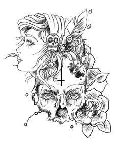 demon girl tattoo designs - Szukaj w Google