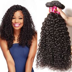 UNice Hair Wholesale 7A Grade Peruvian Curly Hair 3 Bundles, 100% Virgin Cheap Human Hair Weft Extensions Natural Color 95-100g/piece (14 16 18) -- This is an Amazon Affiliate link. Want additional info? Click on the image.