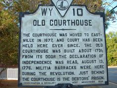 Old courthouse of Eastville - so much history is in this area of Virginia