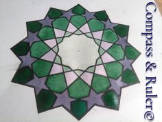 Painted Tiles, Hand Painted, Moroccan Decor, Star Patterns, Home Art, Geometry, Islamic, Watercolor Paintings, Original Art
