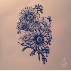 Arts and Crafts Ideas Tattoo Sunflower Side Daisies Mini Tattoos, Rose Tattoos, New Tattoos, Body Art Tattoos, Small Tattoos, Sleeve Tattoos, Tattoos For Guys, Tatoos, Tatuaje Cover Up