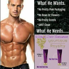 He deserves to treat his skin with one of our Younique Royalty skincare face washes then work his way up to more of the Younique Royalty skincare line! It's for men & women! Your skin will thank you!  #YouniqueRoyalty #LoveItGuarantee #ClickImageToShop #Q