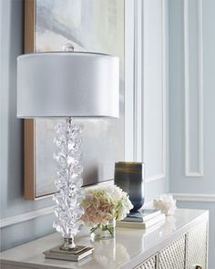 Stacked Tulip Buffet Lamp by John-Richard Collection at Horchow.