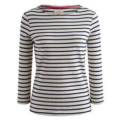 Buy Joules Harbour Stripe Top, Cream Navy Stripe, 8 Online at johnlewis.com