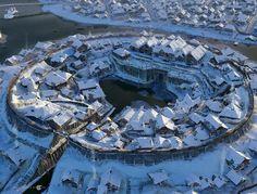 "Gorodishche, concepts for the movie ""He is the dragon"" 2 - Valeriy Zrazhevskiy Fantasy City, Fantasy Castle, Fantasy Map, Fantasy Places, High Fantasy, Medieval Fantasy, Fantasy World, Fantasy Village, Medieval Town"
