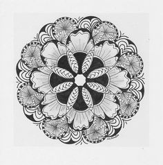 Zentangle/Zendala Lover: november 2013  - #DRAW #ZENTANGLE #ZENDALA #TANGLE #DOODLE #BLACKWHITE #BLACKANDWHITE #SCHWARZWEISS