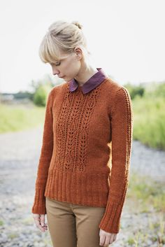 Peabody Pullover With Lace Panel Pattern by Leila Raabe | BrooklynTweed