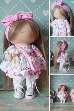 Fabric doll Bambole di stoffa Tilda doll Rag doll Handmade