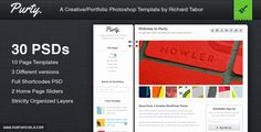 Purty: Creative PSD Template Collection