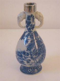 japanese antique imari arita 有田焼 porcelain vase with on hole in the wall cap oriental id=37362
