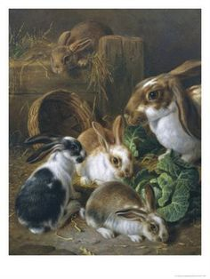"""""""Feeding Time"""" by Alfred Barber"""
