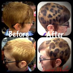Leopard print hair done with Redken Color Gels and Redken ShadesEQ by Lindsey Medley!