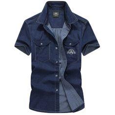 Casual Denim Men'... just got unloaded @ http://loluxes.myshopify.com/products/casual-denim-mens-short-sleeve-cotton-shirt-m-5xl?utm_campaign=social_autopilot&utm_source=pin&utm_medium=pin #onlineshopping #Loluxe  #NewItem #shopnow #shopping
