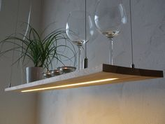 Hanging lamp – beech – shelf lamp – LED light - All For House İdeas Shelf Lamp, Kitchen Ornaments, Table Lamp Wood, Led Licht, Room Lamp, Vintage Lamps, Kitchen Lighting, Hanging Lights, Pendant Lamp