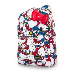 Hello Kitty Large Face All Over Print Classic Backpack d7f861920a1cc