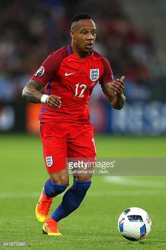 Nathaniel Clyne of England in action during the UEFA EURO 2016 Group B match between Slovakia and England at Stade GeoffroyGuichard on June 20 Nathaniel Clyne, Uefa Euro 2016, Football Photos, June, England, Action, Stock Photos, Baseball Cards, Group