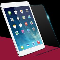 Para ipad air 2 film protector de pantalla de cristal templado para ipad aire protector de pantalla protector de la película protectora para ipad air 1 2