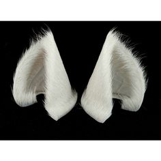 White Fur Leather Cat Ears Limited Edition Nekomimi Cosplay Furry Goth... ($60) ❤ liked on Polyvore