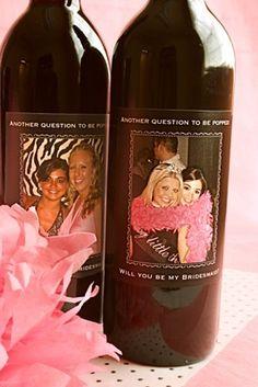 Wine Bottle Labels for Bridesmaid Proposal