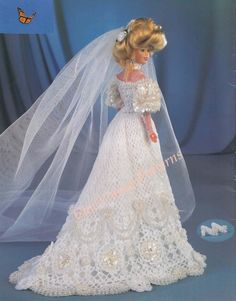 Crochet Wedding Dress ... Collector Costume by ChicVintagePatterns