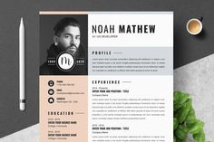 Modern Resume Template, Resume Templates, Cover Letter Template, Letter Templates, Text Icons, Great Resumes, Create A Resume, Job Employment, Thank You Letter