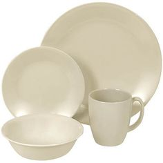 Corelle Hearthstone 16-Piece Square Dinnerware Set, Servi... https ...