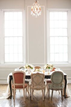 decor, interior, idea, mismatch chair, dine room, dream, mismatched dining room chairs, mix and match dining chairs, design