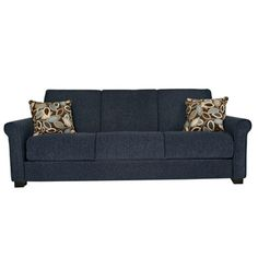 @Overstock - Comfortable and stylish, the transitional Rio Convert-a-Couch futon sofa features rolled arms and converts into a full size bed with the touch of a hand. The futon sofa is covered in a durable chenille fabric and works well in any decor.  http://www.overstock.com/Home-Garden/Rio-Convert-a-Couch-Federal-Blue-Chenille-Rolled-Arm-Futon-Sofa-Sleeper/5503620/product.html?CID=214117 $423.89