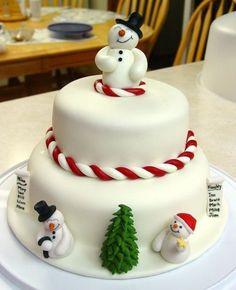 cake decoration ideas, cake, Christmas cake decorating ideas – Cakes and cake recipes Christmas Cake Designs, Christmas Cake Decorations, Christmas Cupcakes, Christmas Sweets, Holiday Cakes, Christmas Cooking, Christmas Goodies, Xmas Cakes, Christmas Tree