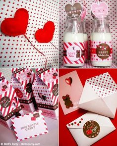 Cookies and Milk Valentine's Day