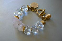 SALE Bold Crystal and Rose Quartz Statement by pmdesigns09