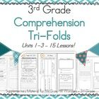 BUNDLE Units 1-3 - Wonders - Comprehension Tri-Folds 3rd Grade