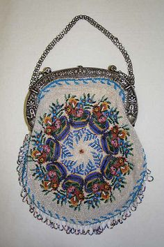 French Bag (1825–35). Silver frame and silver handles.Image and text courtesy The Metropolitan Museum of Art.