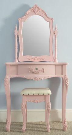 Shabby Chic Pink Dressing Table by {Vintage Vibe} #VintageStorehouseStyle #PinkPaintedFurniture