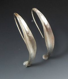 Anti Clastic long sterling silver earrings, handcrafted artisan jewelry by jewelrybyfrancine on etsy