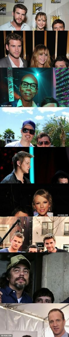Josh Hutcherson with other celebrities. I'm dying!awwwwww pooooor Josh
