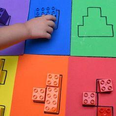 Самодельные шаблоны для логических игр с ребенком и изучения цвета #lego #play #logic