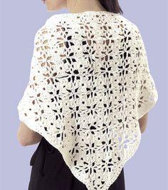Free Pattern ~ Flower Shawl (crochet)