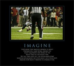 """Imagine"" - Moments of Football Photography Non-Greatness by Scott Kelby"