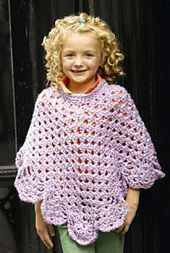 Ravelry: Martha Stewart 'Coming Home' Poncho: Kid's Sizes (crochet) pattern by Lion Brand Yarn